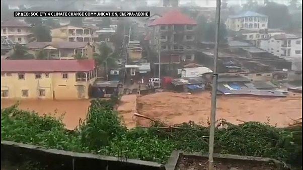 Deslizamento de terras na Serra Leoa faz mais de 300 mortos