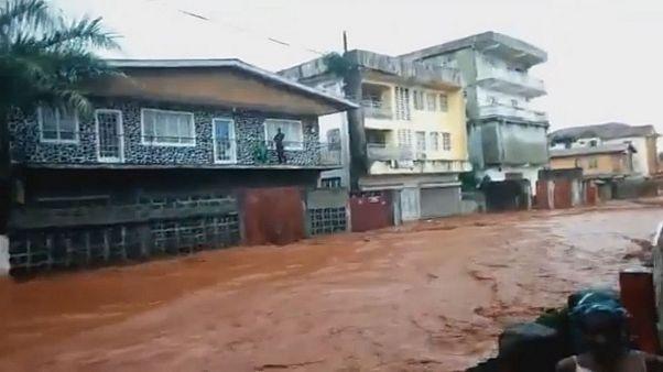 Hunderte sterben in Fluten in Sierra Leone