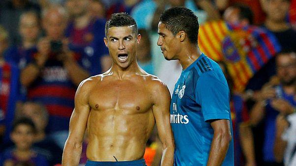Ronaldo sancionado con 5 partidos de suspensión, lo que pone en peligro su participación en el partido de vuelta de la Supercopa