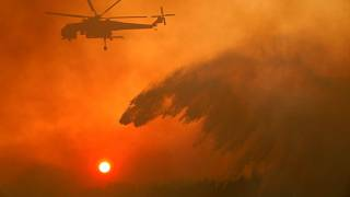 Dry winds and hot weather stoke 90 fires in Greece