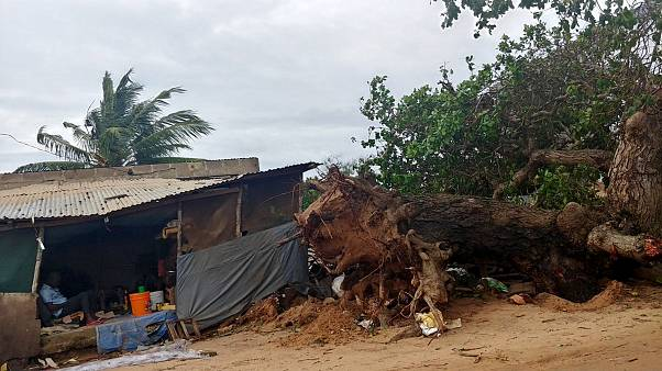 Image: Damage on the beach in Pemba, Mozambique during Cyclone Kenneth