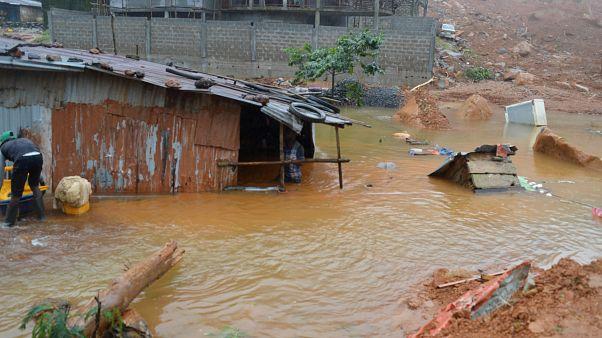 مرگ و آوارگی صدها نفر در سیرالئون بر اثر جاری شدن سیل