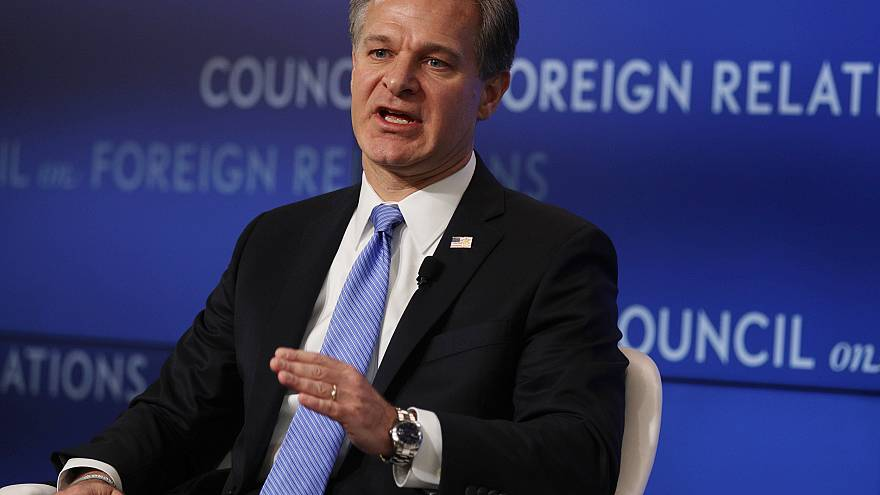 Image: FBI Director Christopher Wray addresses the Council on Foreign Relat