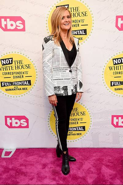 "Samantha Bee attends ""Full Frontal With Samantha Bee"" Not The White House Correspondents Dinner in Washington on April 26, 2019."