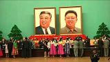Diplomatákkal ünnepelték a Kim-dinasztiát