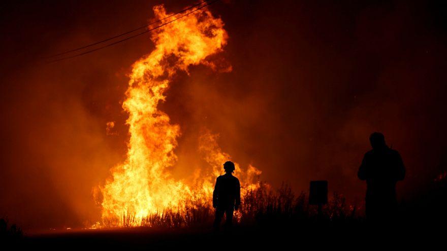 Decenas de incendios fuera de control en Portugal