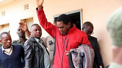 Zambie : le chef de l'opposition libéré après l'abandon des charges de trahison