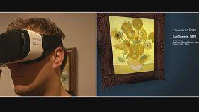 Les tournesols de Van Gogh en virtuel