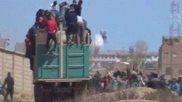 Quemado en Bolivia un camión con contrabando