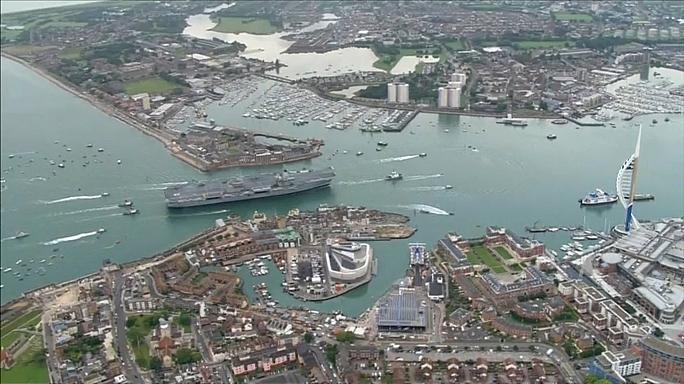 UK's largest aircraft carrier docks at home port