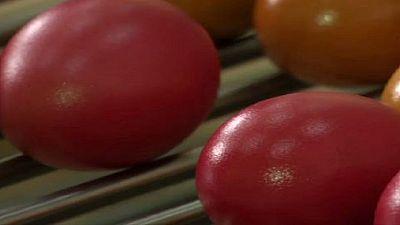 Nigeria : des œufs colorés sur le marché