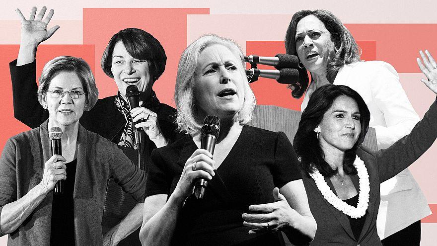Image: Sen. Amy Klobuchar, Sen. Elizabeth Warren, Sen. Kirsten Gillibrand,