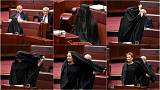 Senator slammed after burqa ban stunt in Australia