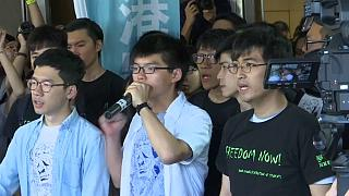 Hong Kong democracy campaigners jailed over anti-government protests