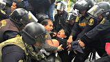Lehrerstreik in Peru: Gewalt gegen Demonstranten