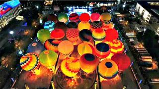 Festival de Balões na cidade chinesa de Xingyi