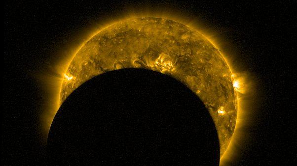 Egy százalékos napfogyatkozás Európában