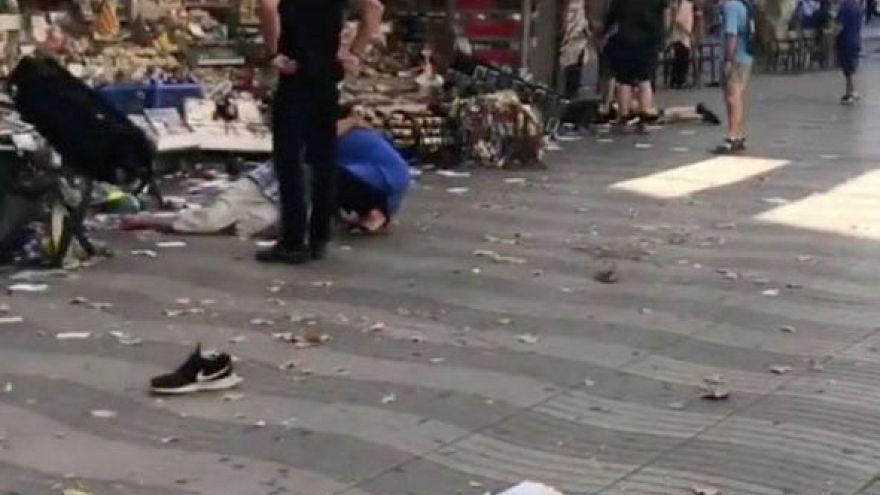 Testemunha do pânico nas Ramblas de Barcelona