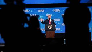 Image: President Donald Trump speaks at the NRA-ILA Leadership Forum in Ind
