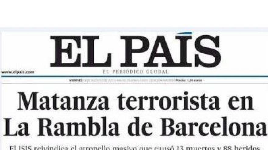 Barcellona: le prime pagine dei giornali