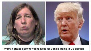Trump'a iki kere oy vermek isteyen kadın 2 yıl ceza aldı