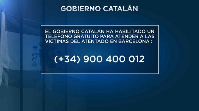 Teléfono gratuito para las víctimas del atentado de Barcelona