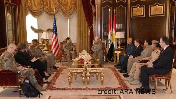البرزاني يلتقي بوفد أمريكي بخصوص الاستفتاء على انفصال الإقليم عن العراق