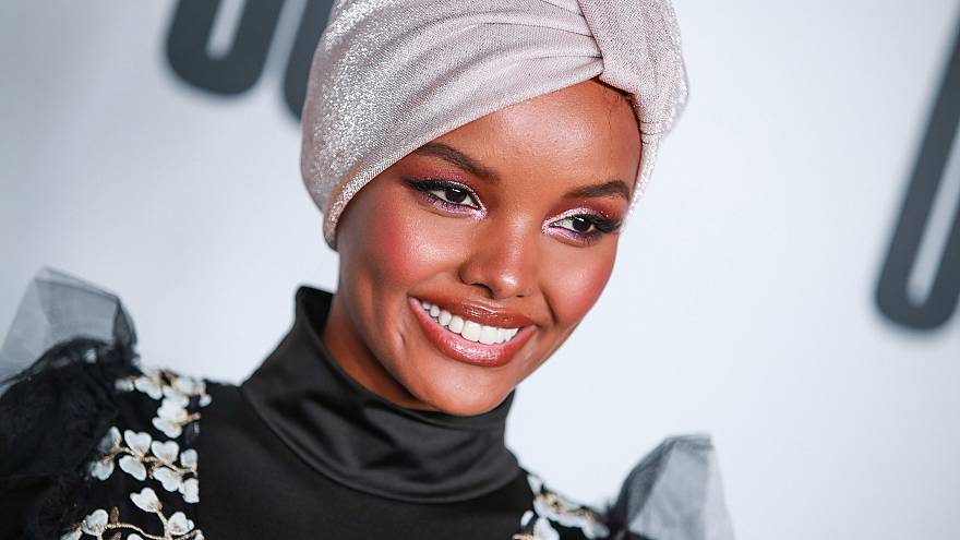 Halima Aden attends House Of Uoma presents the launch of Uoma Beauty in Los