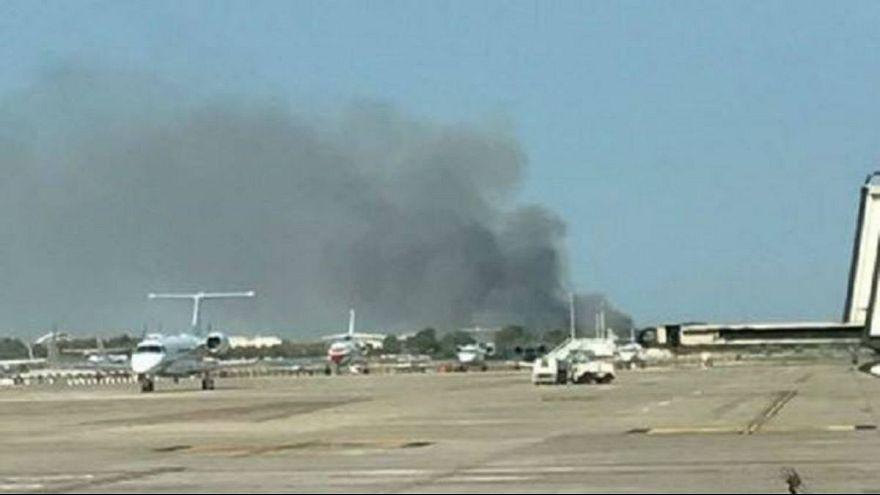 إندلاع حريق في مطار برشلونة بعد يوم من حادثة الدهس