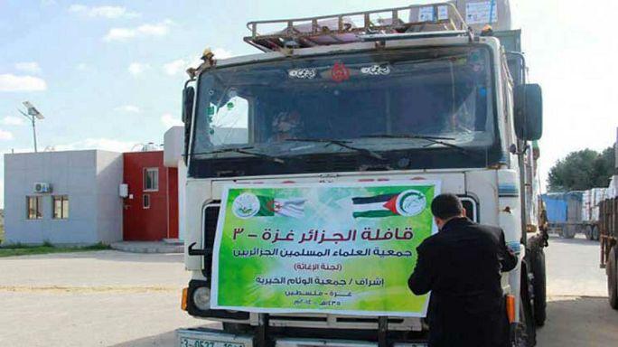 مصر تمنع دخول قافلة مساعدات جزائرية لغزة