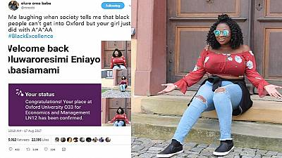 Nigerian woman celebrates admission to Oxford University, 'haters' ask why