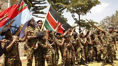 Kenyan soldiers drop guns to compete in the East Africa military games