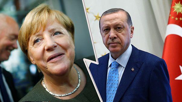 Erdogan tells Turks in Germany to vote against Merkel