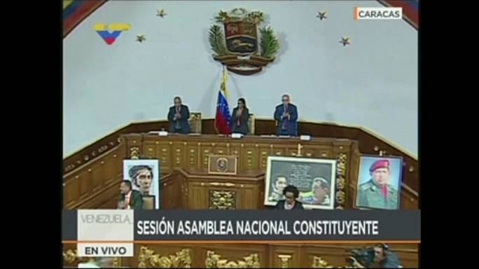 Venezuela's new constituent assembly votes to take parliament's powers