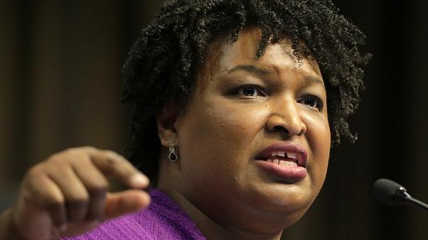 Image: Former Georgia gubernatorial candidate Stacey Abrams speaks during t