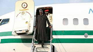 Nigeria's Buhari returns home from U.K. medical vacation