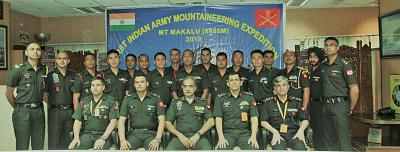 The Indian army\'s mountaineering expedition team was credited with finding the footprints.