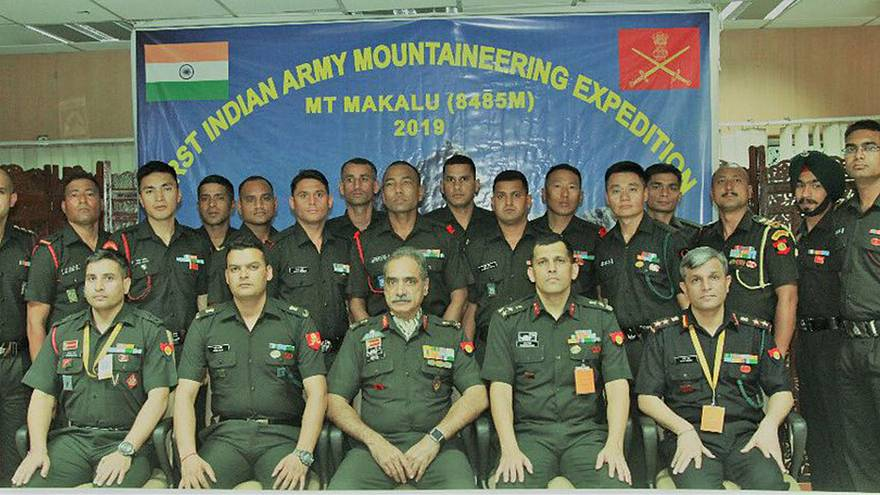 Image: The Indian army's mountaineering expedition team was credited with f