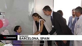 İspanya Kralı ve eşi yaralıları ziyaret etti