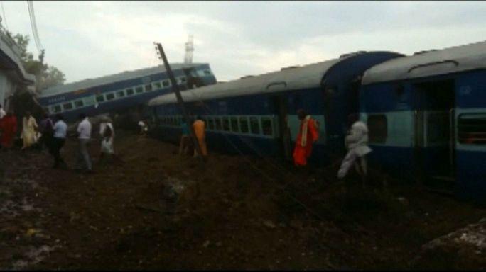 هند؛ خروج مرگبار قطار از ریل