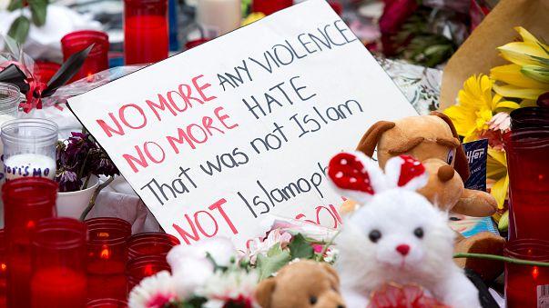 Muslims protest against terror near Barcelona memorial