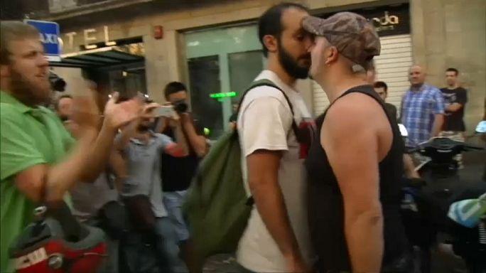 اشتباكات بين اليمين المتطرف ومناهضين للفاشية في برشلونة