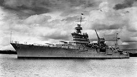Világháborús hajóroncs az óceán fenekén