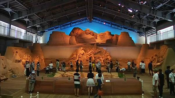 Castles made of sand in Japan
