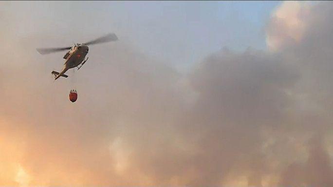 Helicóptero cai durante combate a incêndios em Castro Daire