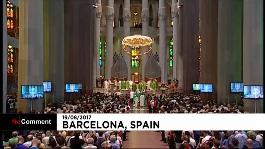 قداس على أرواح ضحايا اعتداء برشلونة