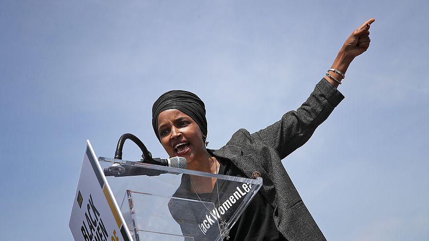 Image: Rep. Ilhan Omar Holds A Rally Demanding Democratic Leadership Censur