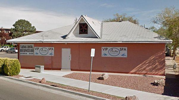 Image: The VIP Spa on Tijeras Avenue in Albuquerque, New Mexico.