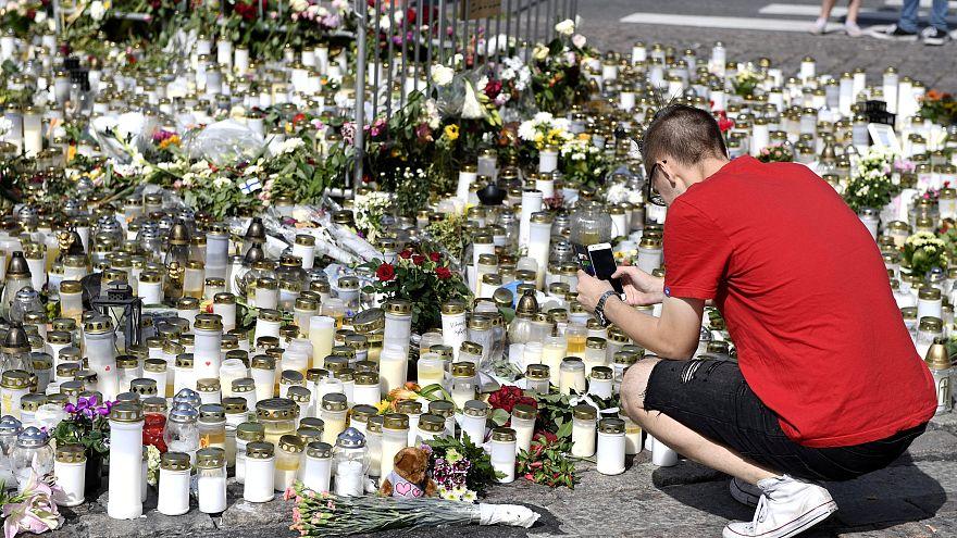Minuto de silencio en Turku por las victimas del atentado
