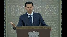 Syrian President Assad shows grattitude for Russia, Iran